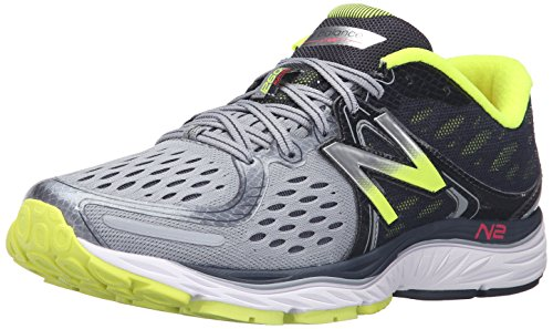 New Balance Men's M1260V6 Running Shoe , Grey/Yellow, 10 D US