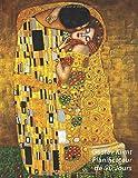 Gustav Klimt Planificateur de 90 Jours: Le Baiser | Agenda de 3 Mois avec Calendrier 2019 | Planificateur quotidien | 13 Semaines