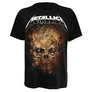 T-Shirt Metallica Noir Skull Explosion M (T-Shirt taille Medium)