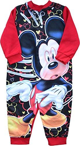 Disney mickey mouse, tuta in pile da bambino; taglia: da 18mesi a 5anni red 2 anni
