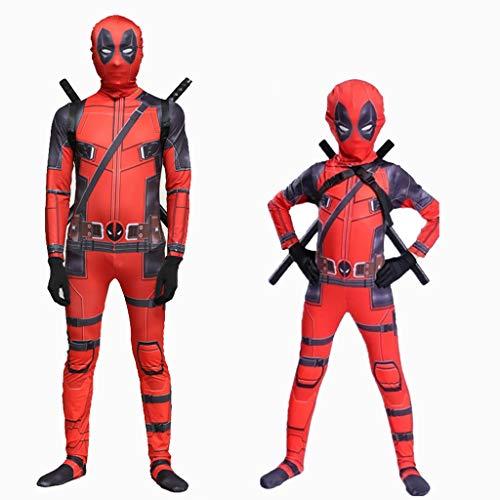 Yanbeng Marvel Deadpool Disguise Kostüm für Erwachsene Kinder Halloween Cosplay Kostüm Monkey Spandex Cosplay Kostüme Komplettset - Kid Monkey Kostüm