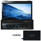Tristan Auron BT1D7007 Autoradio + DAB300+ Box 7,0'' Touchscreen Bildschirm ausfahrbar Navi Europa Freisprecheinrichtung USB/SD CD/DVD 1 DIN DAB Plus DAB+