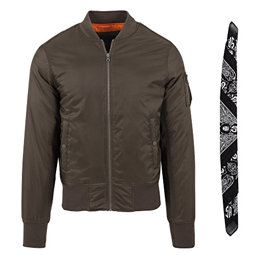 Aggressive Mind MA1 Bomber Flight Jacket Darkolive XXL + Gratis Joker Bandana