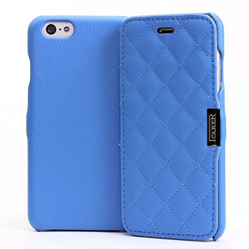 Apple iPhone 6 / 6s Handyhülle von original Urcover® in der Microfiber Check Side-Open Edition iPhone 6 / 6s Schutzhülle Case Cover Etui Gelb Blau