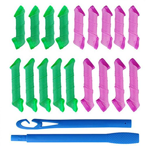 Homeoculture 18 pcs rollers + 2pcs Hooks DIY Magic Hair Curler High Speed Changing Magic Leverag Hair Curler & Perm