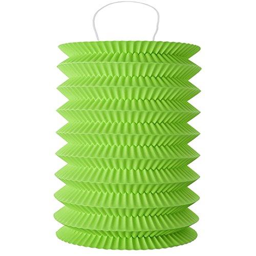 Laternen 10 x 18 cm 2 Stk grün - Papierlaternen Lampions Ballon Papierlampion Windlichter - 4996