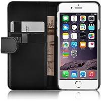 iPhone 6 / 6s Lederhülle | JAMMYLIZARD Ledertasche [ Wallet Tasche Series ] Leder Book Case Hülle Flip Cover Schutzhülle mit Kartenfach, Schwarz
