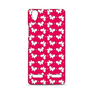 ezyPRNT Lenovo A6000 Plus Mobile Back Case Cover with Beautiful Premium Pink butterfly Pattern