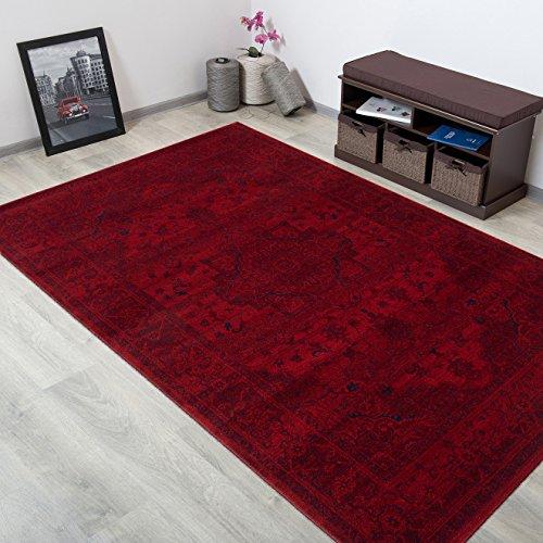 WOLLTEPPICH bester Qualität - Teppich aus Wolle ins Wohnizimmer mit Bordüre - Muster Ornamente Terrakotta Blau - THEATRE COLLECTION 240 x 350 cm Home-theatre-teppich
