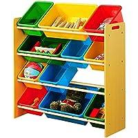 Estante-estante Boutique Almacenamiento Rack de almacenamiento Exportar el mismo párrafo Rack de juguetes (Color : Amarillo)