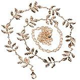Sanysis - Cinturón para mujer, decoración para vestido de boda, plateado (Oro)