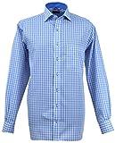 Eterna Herren Freizeit-Hemd Blau Blau