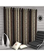 Home Sizzler Abstract Eyelet Polyester Long Door Curtain Set