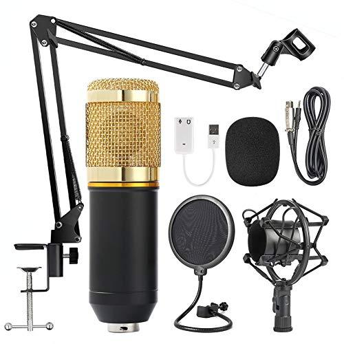 JSX Mikrofon Studio Kondensator-Mikrofon Mic Für KTV-Radio Braodcasting Singen Recording-Computer Mit Halterung Blowout Bildschirm Set