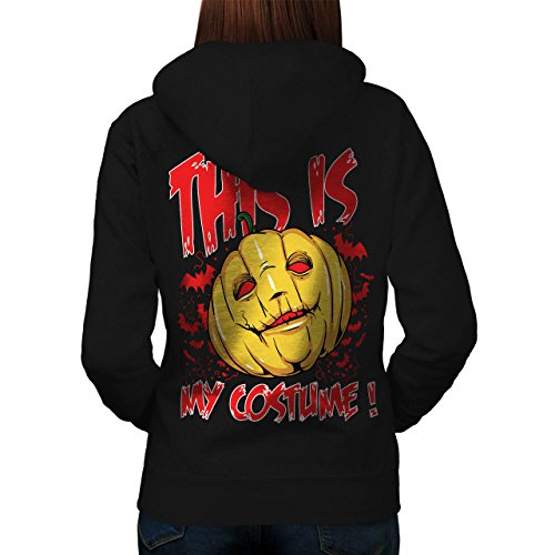 Halloween Kostüm Horror Damen M Kapuzenpullover Zurück | (Auf Der Halloween Flucht Kostüm)