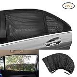 Sonnenschutz Auto Surenhap Autoscheibenabdeckung (2er Set) für Autofenster Schutz vor Schädlichen UV-Strahlen Sonnenschutz für Baby, Kinder Haustiere(S: 113x40cm)