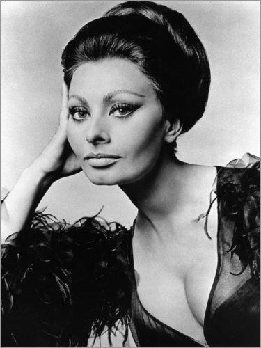 Alu Dibond 60 x 80 cm: Sophia Loren im Kostüm für Arabesque von Everett (Icons Kostüme 80's)