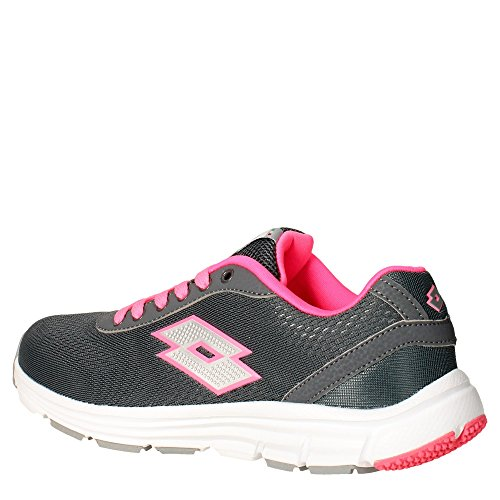 Lotto Gliderun W, Chaussures de Running Entrainement Femme Gris / argenté (gris ciment (grey cement) / argenté métallique)