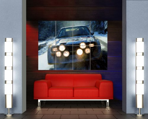 AUDI QUATTRO RALLY CAR GIANT WALL ART PRINT POSTER PLAKAT DRUCK PICTURE MR150