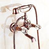 AiRobin-Luxus-Kupfer-Goldbadezimmer-bewegliche Duschbadewannen-Hahn, A