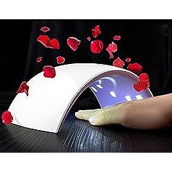 Genius Factory ® Secador de Uñas 24W Sun 9S Lámpara LED UV Profesional con Temporizador para UV Gel / Gel de Constructor / LED Gel Luz Blanca (BLANCO)