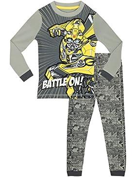 Transformers - Pijama para Niños - Transformers - Brillan En La Oscuridad - Ajuste Ceñido