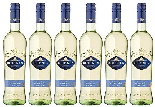 Blue Nun Alcohol-Free Weißwein Lieblich - alkoholfreier Weißwein (6 x 0.75 l)