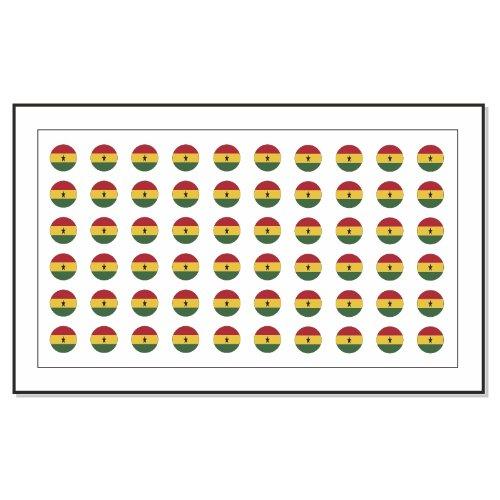 60 drapeau du Ghana Autocollants Tatouage Nail Art de transfert