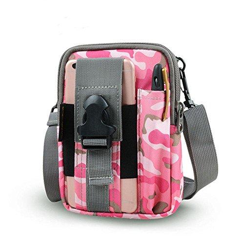BUSL Wandern Hüfttaschen Bag Outdoor Männer und Frauen Schultertasche Multifunktions-Handys Beuteltaschen b