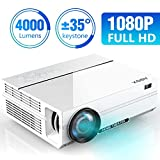 ABOX 4000 Lumens Projector, Portable Full HD 1080p (1920 x 1080) Video Projector, Compatible with Amazon Firestick, Laptop, Smart phone, Dual HD and USB Inputs for Movies, Sports, Gaming