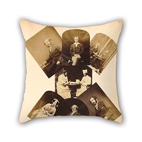 Ölgemälde Henry Pollock (British–(Portrait Of A Gentleman Halten Bücher auf einem Tisch sitzen) Kissenbezug 40,6x 40,6cm/40von 40cm- oder Decor für Jugendliche, Outdoor, Lounge, Valen de Vries