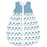 Emma & Noah Baby Schlafsack, Kugelschlafsack, geeignet für Sommer, 18-24°C (1.0 Tog), 100% Baumwolle, Größe: 110 cm, Farbe: Junge, ideal als Babyschlafsack, Sommerschlafsack