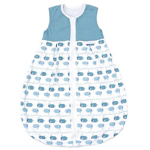 Emma & Noah Baby Schlafsack, Kugelschlafsack, Übergangsschlafsack (1.0 Tog), 100% Baumwolle, Größe: 110 cm, Farbe: Junge, ideal als Babyschlafsack