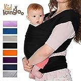 Écharpe de portage pour porter votre bébé - Porte bébé en coton et lycra - Porte bébé pour hommes et femmes disponible en cinq couleurs (NOIR)