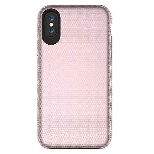 Dual Layer Double Schutz PC + TPU Drop Resistant Shockproof Hybrid Armor Shell Cover Case für iPhone X ( Color : Rosegold ) Rosegold