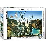 Eurographics, Puzzle di Salvador Dalí Cigni Che riflettono Elefanti (Titolo in Inglese), 1000 Pezzi, Colore: Multicolore