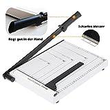 Rendio Profi A4 Papierschneider Fotoschneider Hebelschneider Papierschneidemaschine Schneidegerät Bindegerät Schrottmaschineider aus Rostfreiem Stahl für Schule und Büro