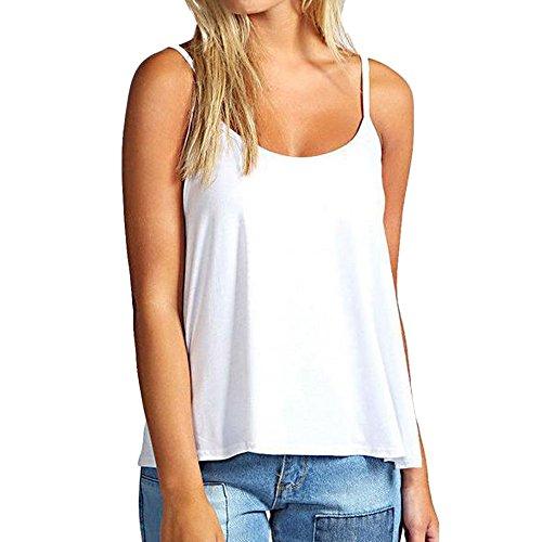 QingJiu Damen Tops Sleeveless Swing der Art und Weisefrauen Strappy Camisole Cami Weste Unterhemd Spitzen T Shirt Bluse
