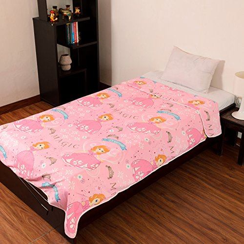 Factorywala Super Soft Princess Cartoon Kids Design Print Reversible Single Bed Dohar, Blanket, AC Dohar best gift for kids and at great discount offer price