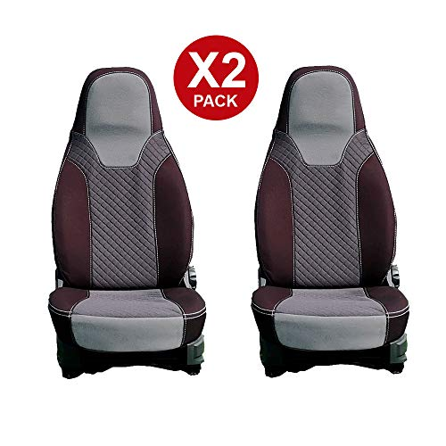 kfoam.com 2 Pack Premium Gray Seat Covers for Campers Fiat Camper Fiat Ducato, Peugeot Boxer and Citroën Jumper (+ 2006)