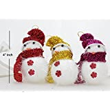 Christmas Decoration Snowman Tree Hanging Ornament - Pack Of 6 Pcs