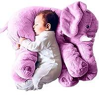 RHSMM Big Plush Elephant Toy Children Sleeping Bag Stuffed Pillow Elephant Doll Birthday Gift For Soothe the baby,Purple