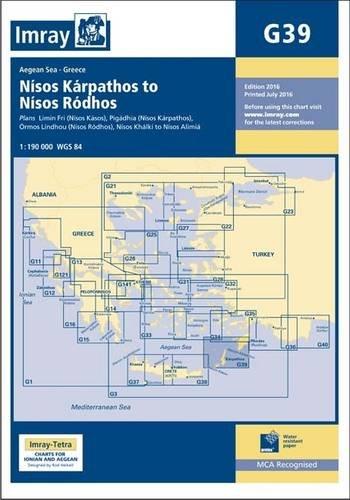 Imray Chart G39: Nisos Karpathos to Nisos Rodhos