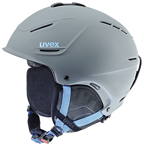 Uvex p1us Casco da sci, Unisex, P1Us, Grey-Blue Mat, 55-59 cm