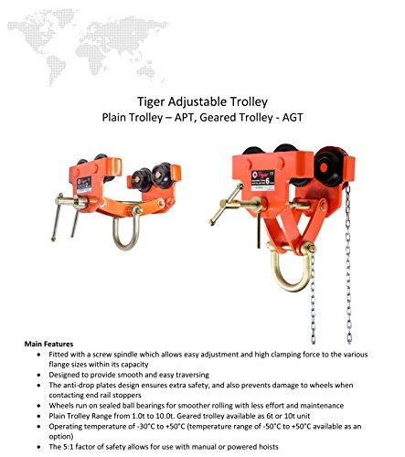 Tiger amz1023002APT regolabile Push fascio da viaggio/trolley per profilati, Barra Filettata, 3.0tonnellate, larghezza: 75mm-210mm