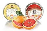 Saules Fabrika Kosmetik Geschenk-Set Körper-Peeling + Creme, (Body-Scrub + BodyYoghurt), mit reichen Ölen, 100% Vegan, Bio, Handmade, mit Meersalz (Red Grapefruit)