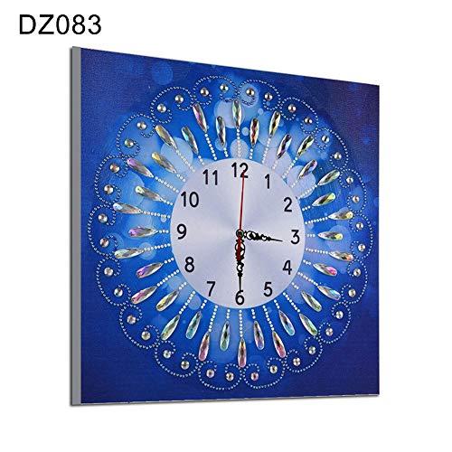 Beiguoxia Horloge murale en diamant faite à la main 35 x 35 cm, 1 couleur, DZ083