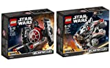 LEGO Star Wars Set: 75193 Millennium Falcon Microfighter + 75194 First Order TIE Fighter Microfighter