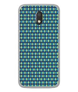 PrintVisa Designer Back Case Cover for Moto E3 (trim patterning instructive arranged pattern)