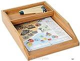 Ablage- und Stiftebox Bambus, 2-teilig, Schreibtischorganizer mit Ablageflächen für Dokumente, Briefe und Stifte, von Bartl Office-Line-Bambus